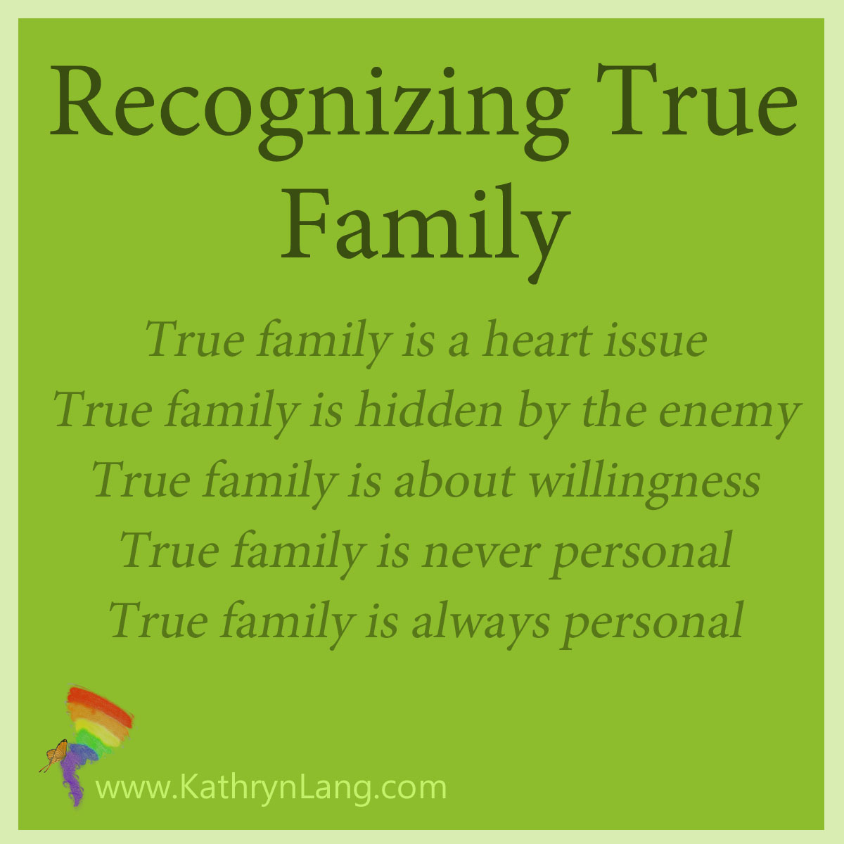 Recognizing True Family