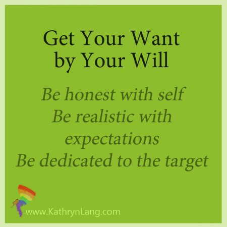 get your want by your will