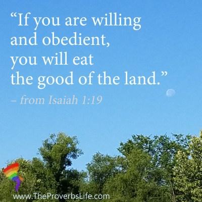 Scripture quote isaiah 1:19