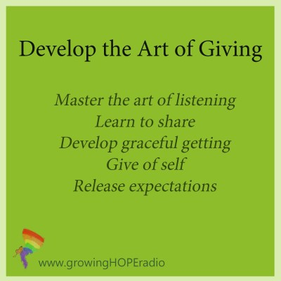 art of giving with Growing HOPE