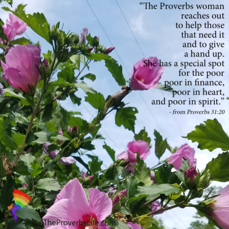 art of true giving from proverbs 31:20