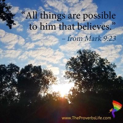 Scripture Focus Mark 9:23