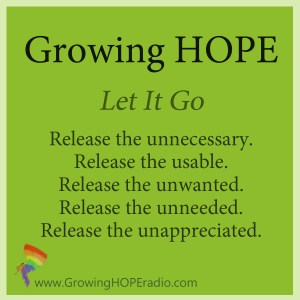 #GrowingHOPE daily - Let it Go intro