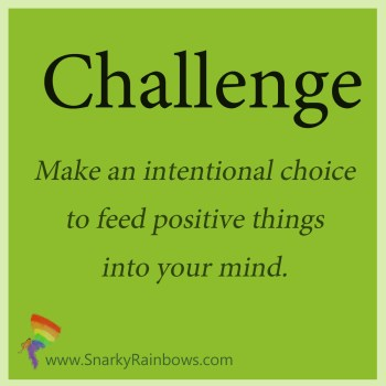 Challenge of the day - feed your mind