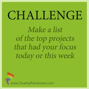 Challenge of the day - what has your focus
