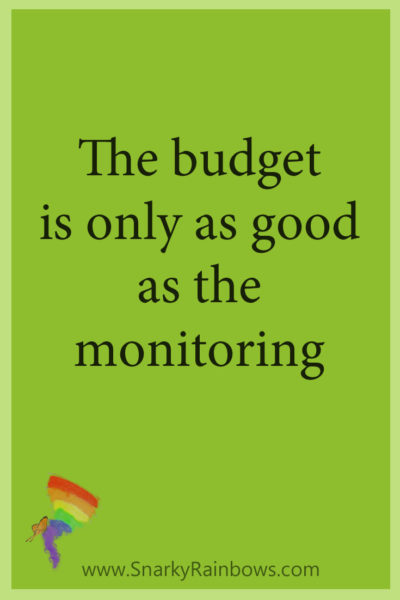 Growing HOPE - monitor the budget