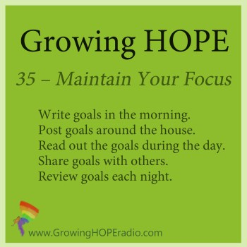GHD five points to maintain focus
