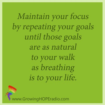 GHD Quote - maintaining focus by repeating goals