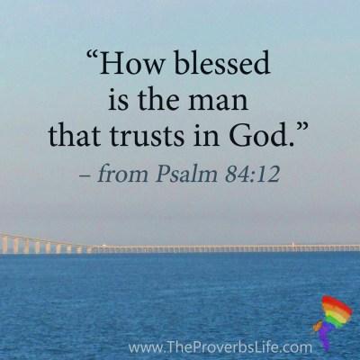 Scripture Focus - Psalm 84:12