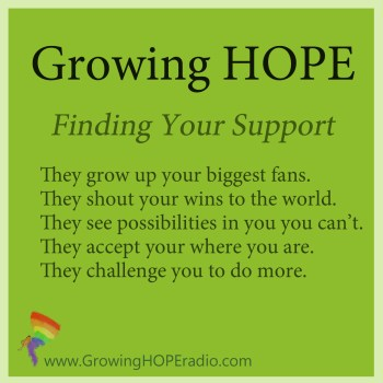 Growing HOPE daily - 5 points for finding support