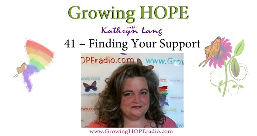 Growing HOPE header 41 - finding your support