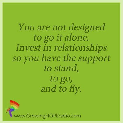 GrowingHOPE daily - quote - stand go fly