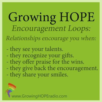 #GrowingHOPE Daily - 5 points - encouragement from relationships