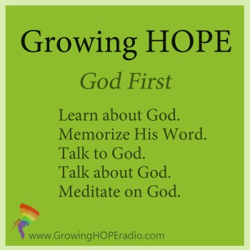 #GrowingHOPE Daily 5 points God first