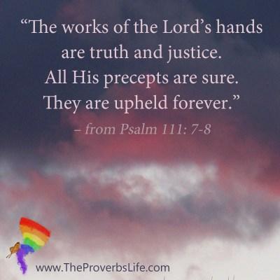 Scripture Focus Psalm 111:7-8
