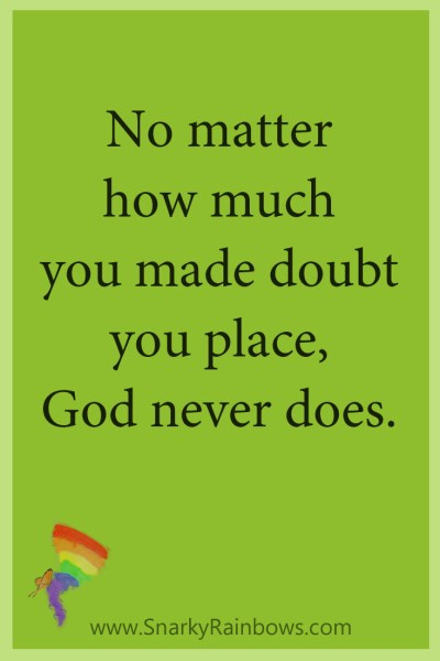 Growing HOPE Daily - Quote - pinterest - God never doubts
