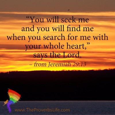 Scripture Focus - Jeremiah 29:13