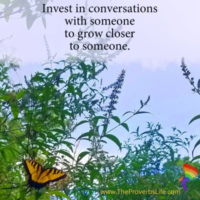 Quote of the Day - invest in conversation