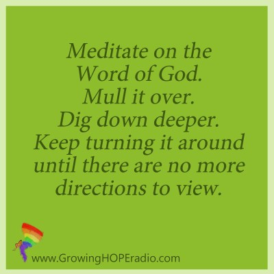 GroiwngHOPE Daily - quote mull it over