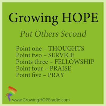#GrowingHOPE Daily - 5 Points - Put Others Second