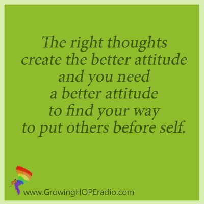 GrowingHOPE daily quote - right thoughts