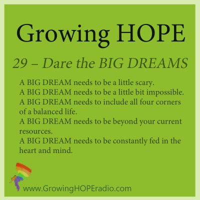 Growing HOPE podcast - 5 points to dream big