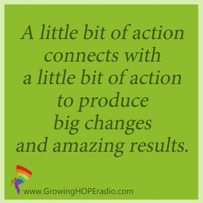 #GrowingHOPE daily - quote little bits add up
