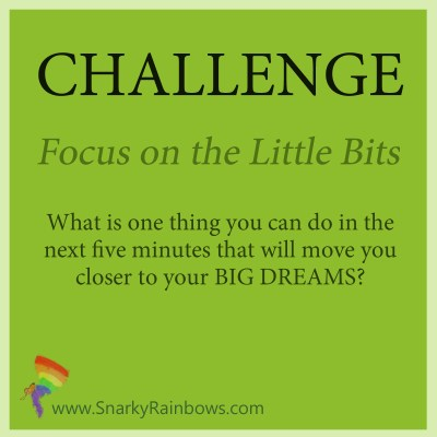 Challenge - focus on the little bits