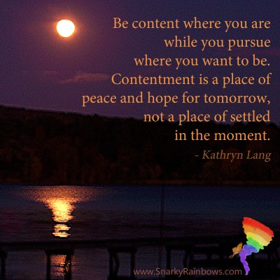 #QuoteoftheDay for November 15 - Find a place of contentment