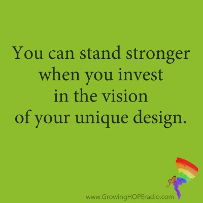 Growing HOPE Daily - Quote - Stand Stronger in Unique Design