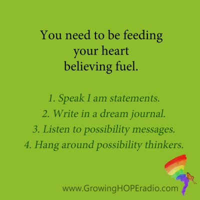 Growing HOPE Daily - quote - believing fuel