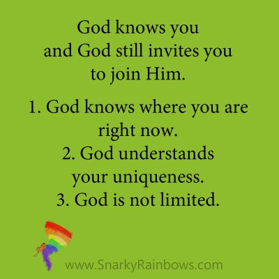 Growing HOPE Daily - quote - God knows you