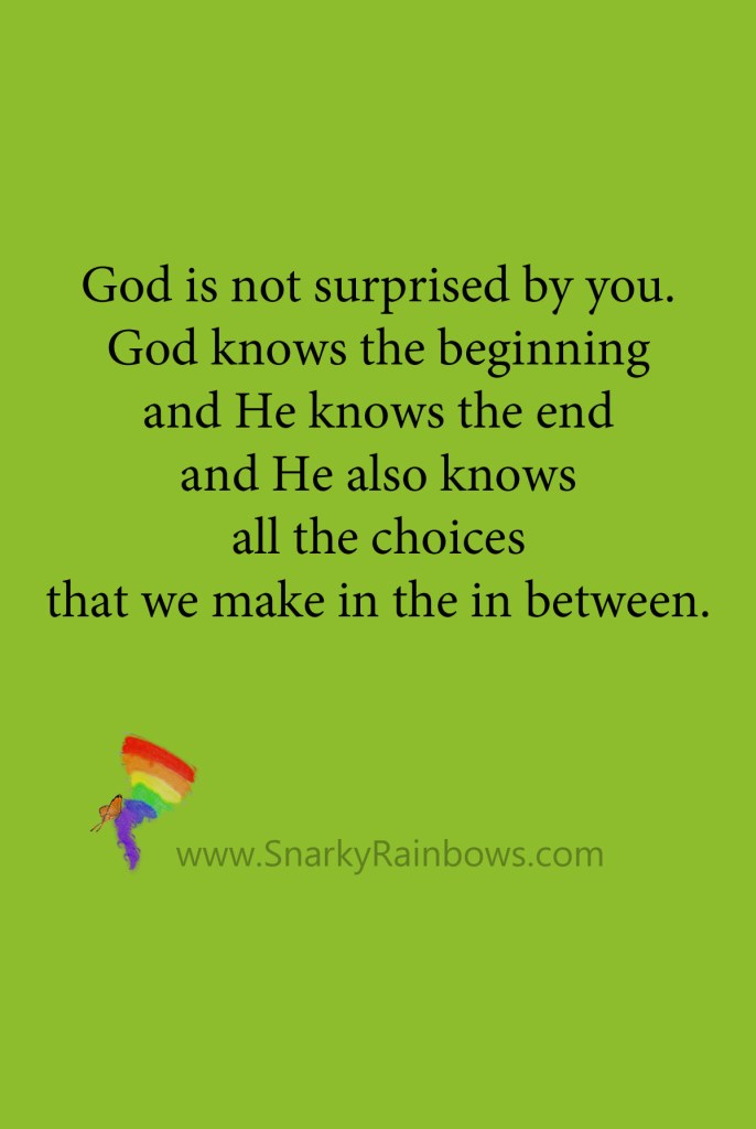 Growing HOPE Daily - Pinterest quote - God is not surprised
