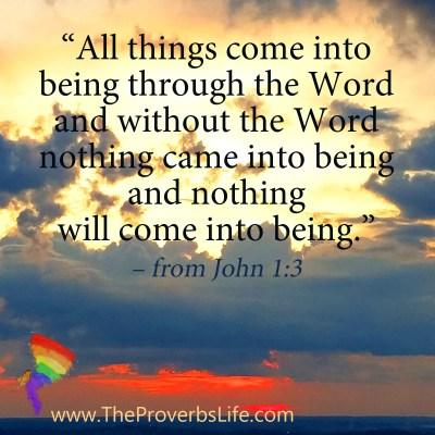 Scripture Focus - John 1:3