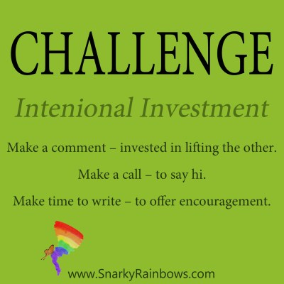 Daily Challenged - intentional investment