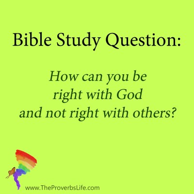 bible study question - right with God