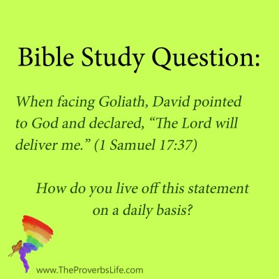 Bible study question - the Lord will deliver me