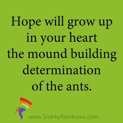 quote - hope grows the heart