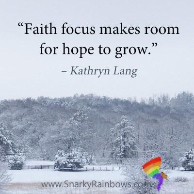 #QuoteoftheDay - faith makes room