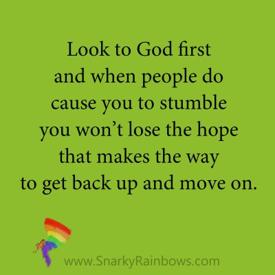 quote - look to God first