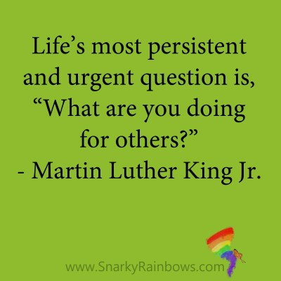 quote - martin luther king jr - doing for others