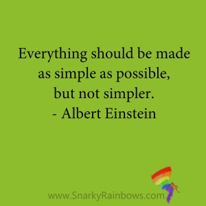 quote - albert einstein - simple as possible