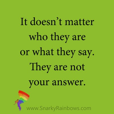 quote - they are not the answer