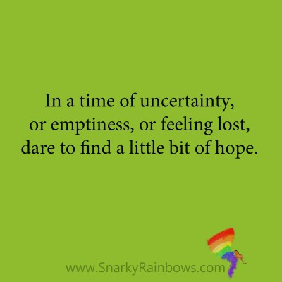 quote - little bits of hope