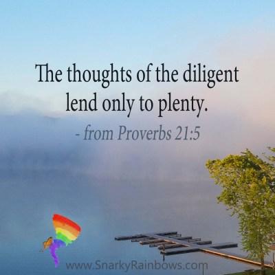 Scripture Focus - Proverbs 21:5