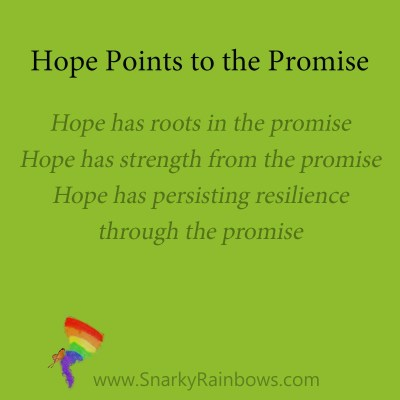 hope will point to the promise