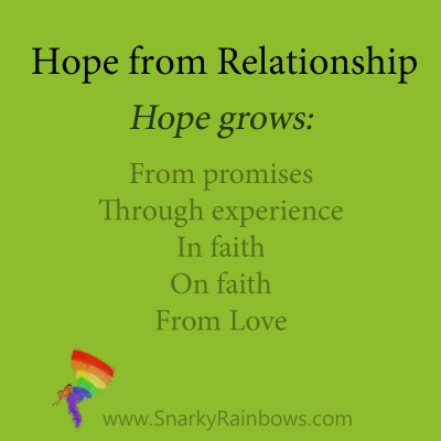 Hope defined through relationship with God