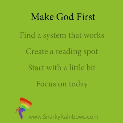 Tips to Make God First