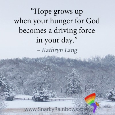 develop a hunger for hope