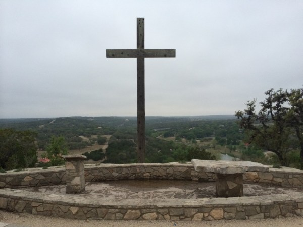 The Cross on the Hill at Mo-Ranch, overlooking the beautiful Guadalupe River